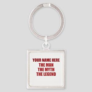 Custom Man Myth Legend Square Keychain