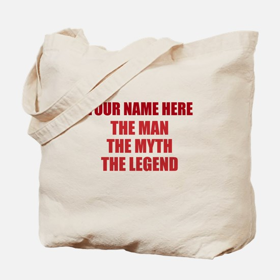 Custom Man Myth Legend Tote Bag