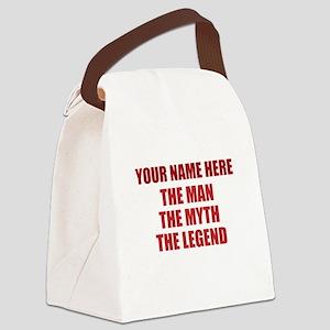 Custom Man Myth Legend Canvas Lunch Bag