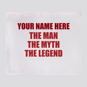 Custom Man Myth Legend Throw Blanket