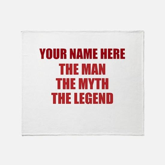 Custom Man Myth Legend Throw Blanket