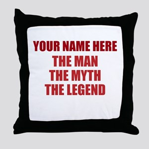 Custom Man Myth Legend Throw Pillow