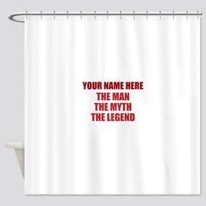 Custom Man Myth Legend Shower Curtain