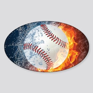 Baseball Ball Flames Splash Sticker