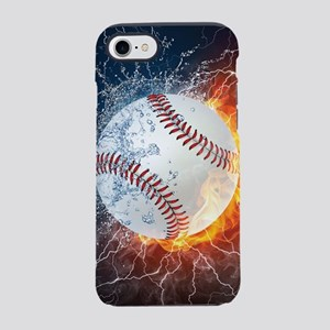 Baseball Ball Flames Splash iPhone 8/7 Tough Case