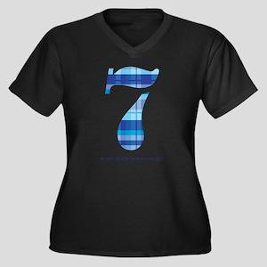 7 DEADLY SIN Women's Plus Size V-Neck Dark T-Shirt