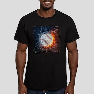 Baseball Ball Flames Splash T-Shirt