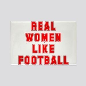 Real women like football Rectangle Magnet