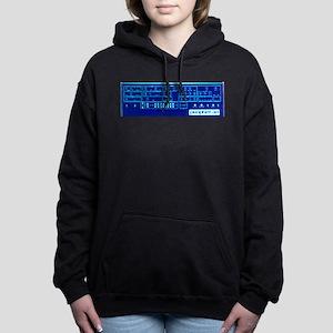 Prophet 5 Blue Glow Women's Hooded Sweatshirt