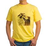 Red & White Borzoi<br> Yellow T-Shirt