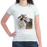 Red & White Borzoi<br> Jr. Ringer T-Shirt