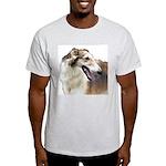 Red & White Borzoi<br> Light T-Shirt
