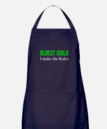 OLDEST CHILD (green) Apron (dark)