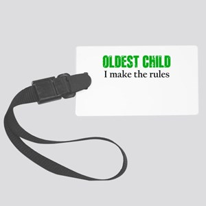 OLDEST CHILD (green) Luggage Tag
