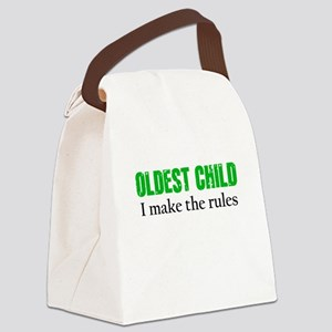 OLDEST CHILD (green) Canvas Lunch Bag