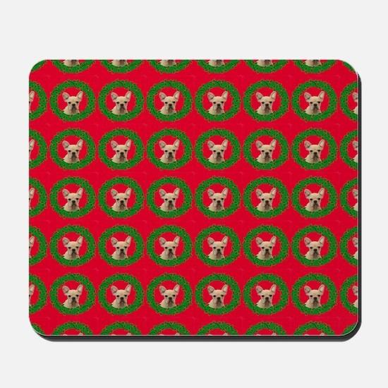Christmas French Bulldog Mousepad