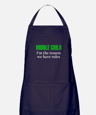 MIDDLE CHILD (green) Apron (dark)
