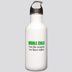 MIDDLE CHILD (green) Water Bottle