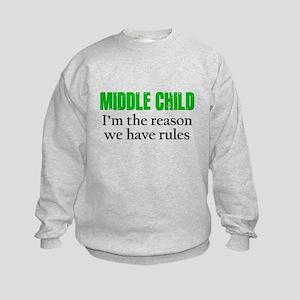 MIDDLE CHILD (green) Sweatshirt