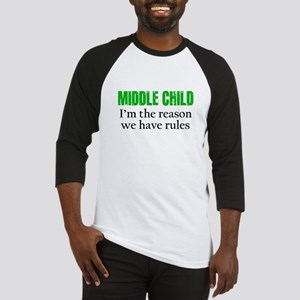 MIDDLE CHILD (green) Baseball Jersey