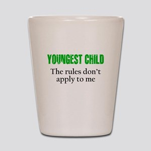YOUNGEST CHILD (green reverse) Shot Glass