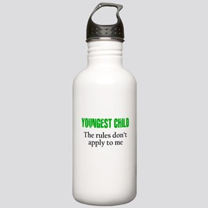YOUNGEST CHILD (green reverse) Water Bottle