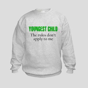 YOUNGEST CHILD (green reverse) Sweatshirt