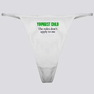YOUNGEST CHILD (green reverse) Classic Thong