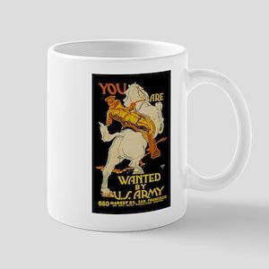 US Army You Are Wanted WWI Propaganda Mug