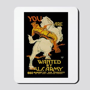 US Army You Are Wanted WWI Propaganda Mousepad