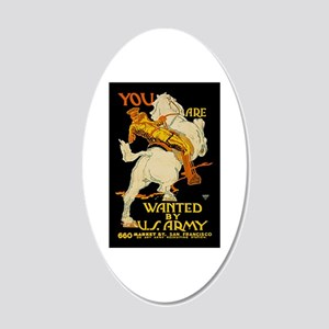 US Army You Are Wanted WWI 20x12 Oval Wall Decal