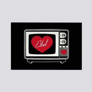 I Love Lucy Ethel TV Rectangle Magnet