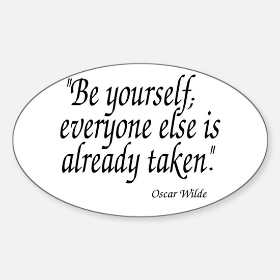 Oscar Wilde Quote Decal