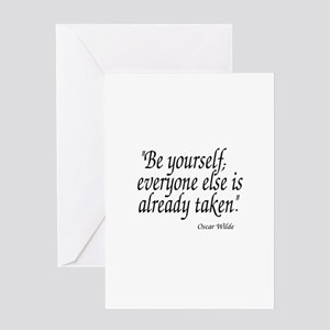 Oscar Wilde Quote Greeting Cards