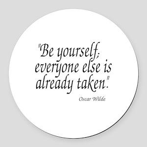 Oscar Wilde Quote Round Car Magnet