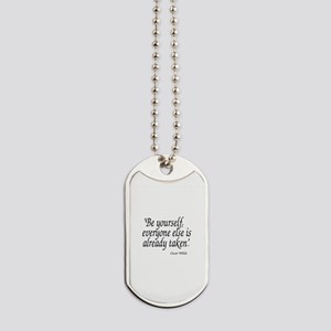 Oscar Wilde Quote Dog Tags