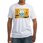 Baby Jesus Halloween Hell Fitted T-Shirt