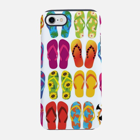 Summer Fun Flip Flops iPhone 8/7 Tough Case