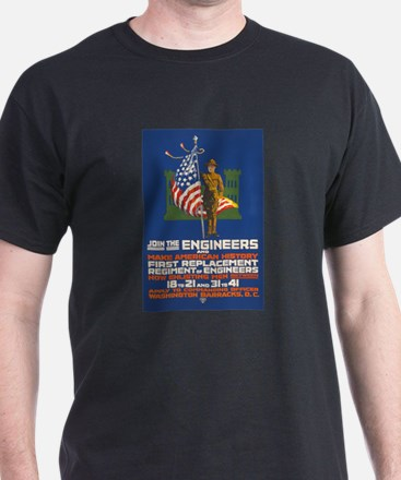 US Army Join the Engineers WWI Propa T-Shirt