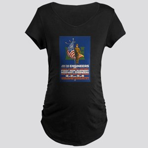 US Army Join the Engineers Maternity Dark T-Shirt