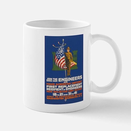 US Army Join the Engineers WWI Propaga Mug