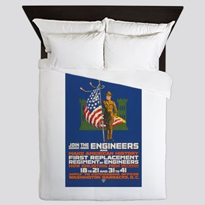 US Army Join the Engineers WWI Propag Queen Duvet