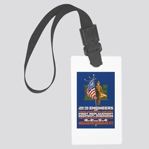 US Army Join the Engineers WWI Large Luggage Tag