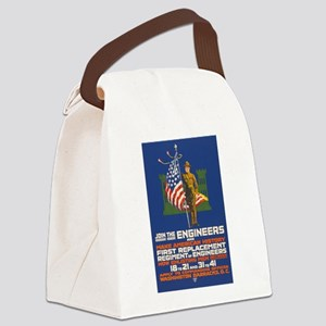 US Army Join the Engineers WWI P Canvas Lunch Bag