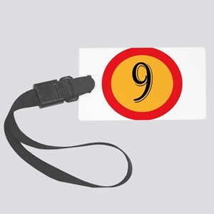 Number 9 Large Luggage Tag