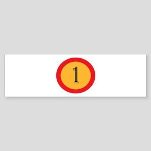 Number 1 Bumper Sticker