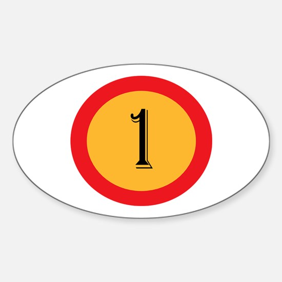 Number 1 Decal