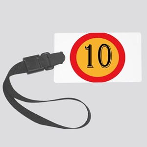Number 10 Large Luggage Tag