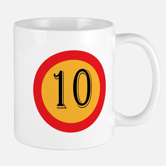 Number 10 Mugs