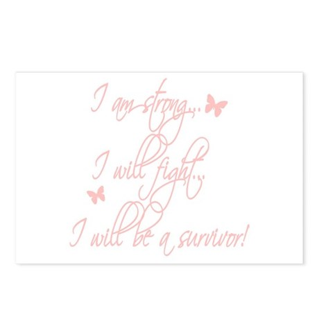 I will be a survivor Postcards (Package of 8)